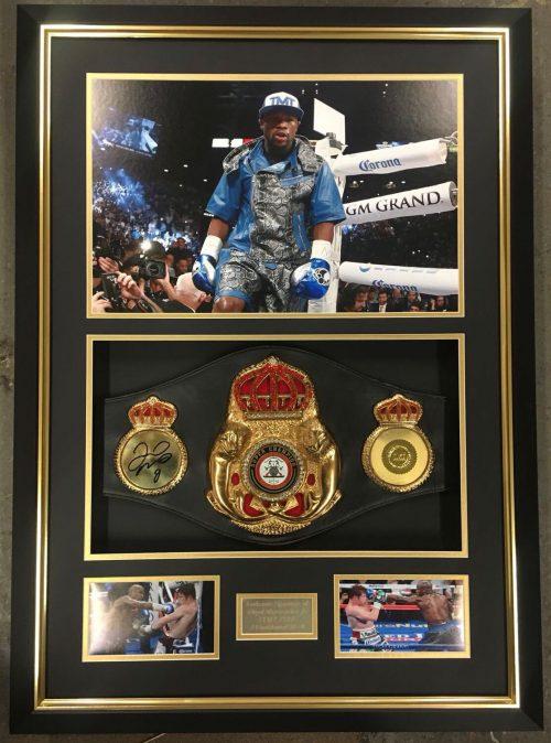 Floyd Mayweather Memorabilia Signed Frame