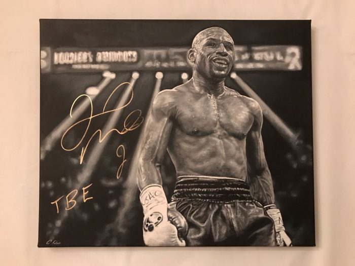Floyd Mayweather Hand Painted Canvas