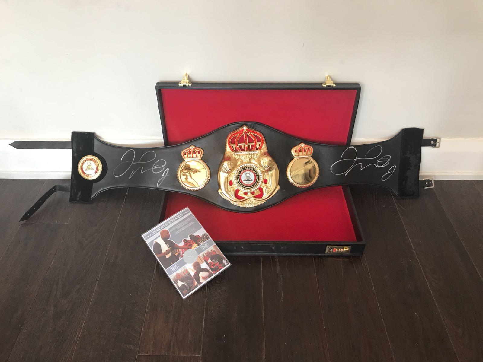 Floyd Mayweather Signed Full Size Championship Belt