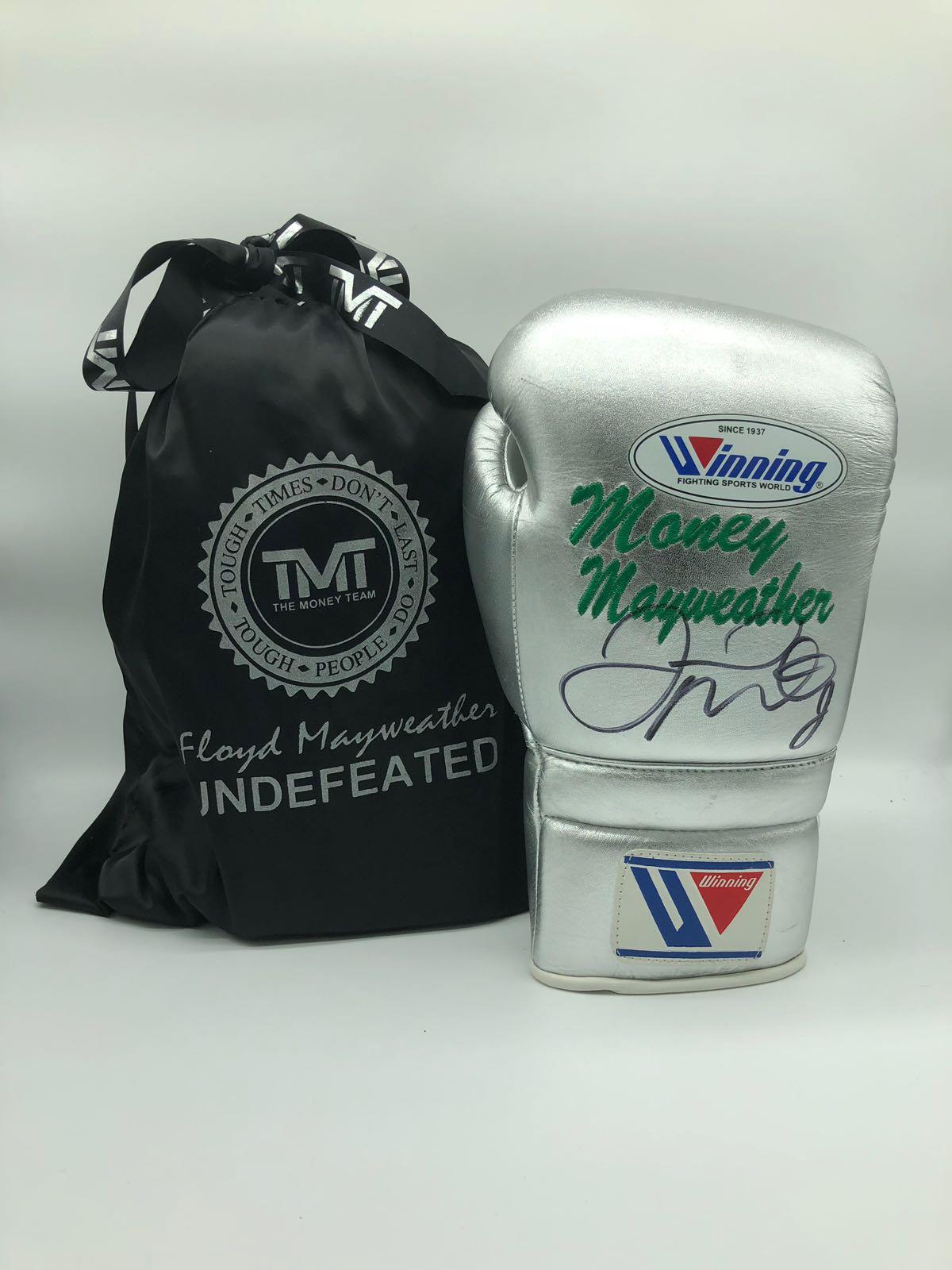 Floyd Mayweather Junior Silver Training Style Boxing Glove