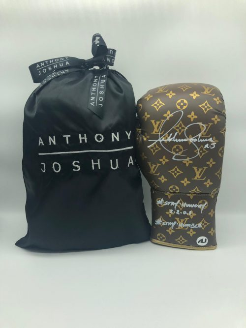 Anthony Joshua Louis Vuitton Signed Gloves