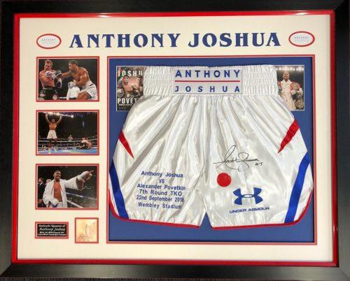Joshua Povetkin Signed Shorts Frame