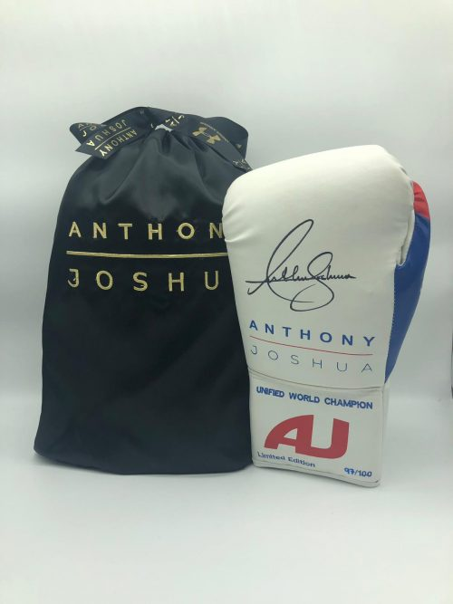 Anthony Joshua Signed White Gloves