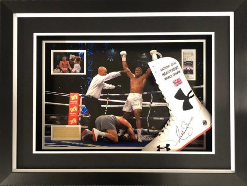 Anthony Joshua Signed Boot Frame