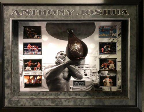Anthony Joshua Speed Ball Signed Frame