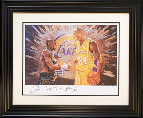 Floyd Mayweather signed Kobe Bryant 2020 tribute art print limited edition