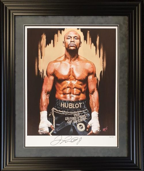 Floyd Mayweather signed limited edition art print 20 worldwide each with unique number