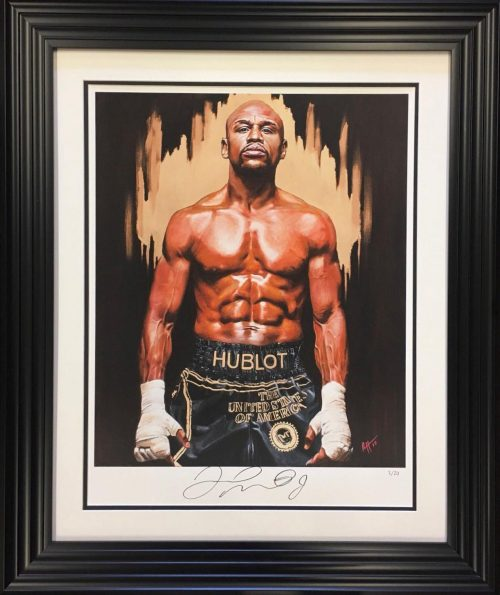 Floyd Mayweather signed limited edition art print