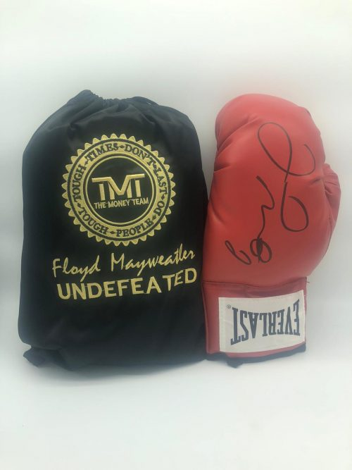 Floyd Mayweather signed boxing glove inc C.O.A