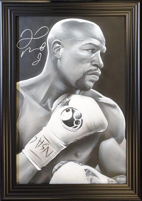 Floyd Mayweather signed portrait